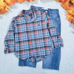 2/$24 Toddler boy button down shirt/jeans outfit